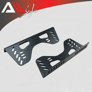 1 Set Black Side Mounting Steel Alloy Racing Seat Brackets For Sparco Momo Omp