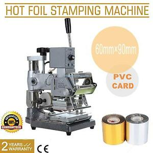Hot Foil Stamping Tipper Stamper Bronzing Machine Pvc Card Leather W Foil Paper