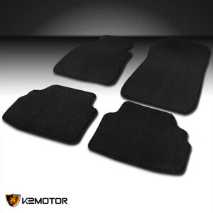 Fit 2005 2009 Bmw E90 3 Series Black Car Floor Mats Carpet Front Rear 4pc Kit