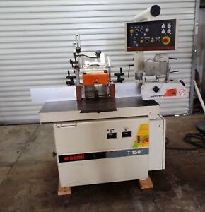 Scmi T150 Tilting Head Shaper With Power Raise And Tilt 12hp With Feeder