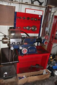 Ammco 4000 Brake Lathe With Bench And Lots Of Accessories Quick Chuck