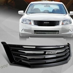 For 2008 2010 Honda Accord Sedan 4 Door Black Vertical Bumper Front Grille Grill