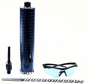 2 1 2 Dry Core Bit For Concrete With Sds Plus Adapter And Center Guide