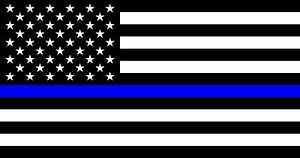 Police Officer Thin Blue Line American Flag Decal Sticker Back The Blue 3 X 5
