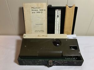 Vintage Us Navy Bendix Psychron Model 566 Complete Metal Military Box Manual