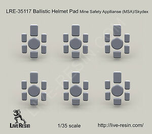 Live Resin LRE35117 135 Ballistic Helmet Pad Mine Safety Appliances MSASkydex