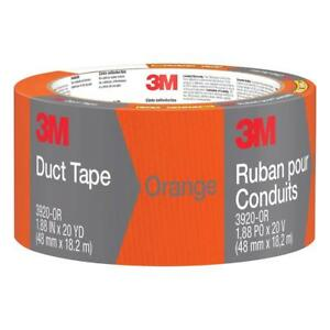 Strong Adhesive Orange Duct Tape Durable Waterproof Backing Resists Cracking