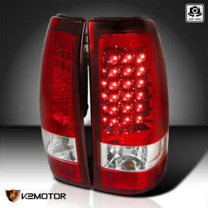 For 1999 2002 Chevy Silverado Gmc Sierra Led Tail Lights Brake Lamps Red Set