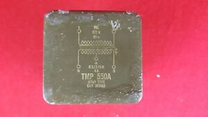 Vintage Chicago Standard Usn Navy Type Tmp 550a Filament Transformer