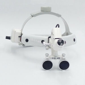 3 5x Headband Binocular Dental Loupes Surgical Loupes Led Headlight 420 Optical