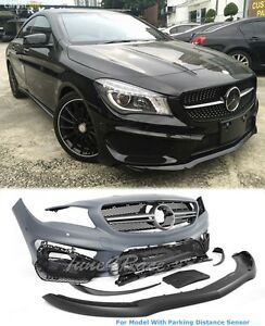 14 16 Mercedes Benz Cla Front Bumper Grille W Parking Sensors Amg Style Adn