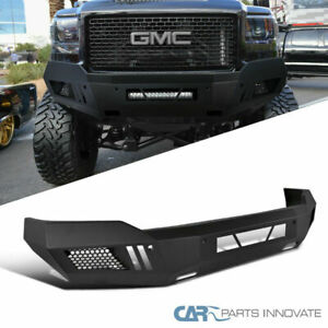For 14 15 Gmc Sierra 1500 Truck Black Steel Front Guard Bumper Replacement