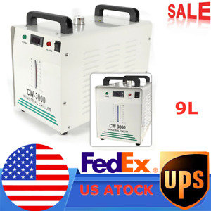 Industrial Water Chiller Cw 3000 For Co2 Laser Plasma Engraver Machine 80 60w