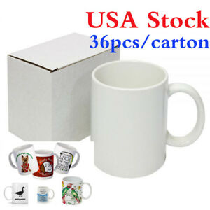 Usa 36pcs Blank White Mugs A Grade 11oz Heat Press Sublimation Coated Mugs