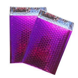 500 0 Glamor Metallic Pink Poly Bubble Mailers Envelopes Bags 6x10 Dvd Wide Cd