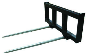 Bale Spear Double Bottom Skid Steer Loader Attachment Bobcat John Deere Gehl