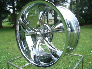 1 20x8 5 Ridler 695 Chrome Chevy Gmc Truck 5 On 5 Bp W Lugs Big Body Gm