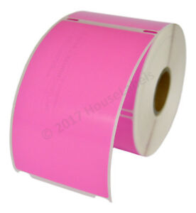 12 Rolls Of 300 Pink Shipping Labels For Dymo Labelwriters 30256