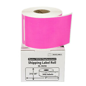 Dymo Lw 30256 Color Large Direct Thermal Pink Shipping Labels 1 Roll Of 300