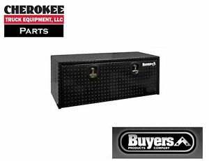 Buyers Products 1725160 Black Aluminum Underbody Toolbox 14 H X 16 D X 24 W