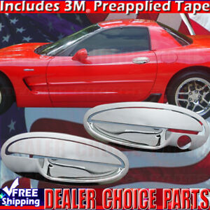 1997 2004 Chevy Corvette Chrome Abs Door Handle Covers Overlays Trims W O Psk2