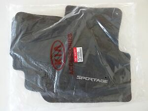 2011 2012 2013 Kia Sportage Floor Mats Set 4pc Black New Oem 3wf14 Ac300wk