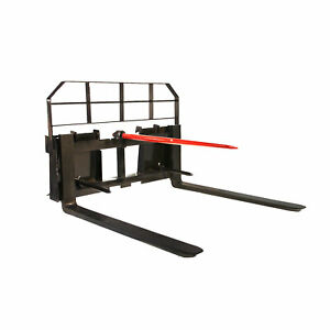 Titan 36 Pallet Fork 5500 Lb Capacity Attachment Hay Bale Spear Case Skid Steer