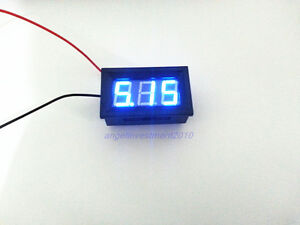 10pcs Mini Blue Led Digital Volt Meter 4 5 30v No Add Power Required