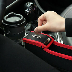 1x Car Accessories Driver Side Seat Storage Box Car Seat Organizer W Cup Holder