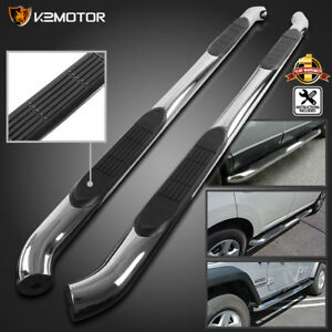 For 2005 2018 3 Nissan Frontier Crew Cab Running Nerf Boards Side Step Bars Ss