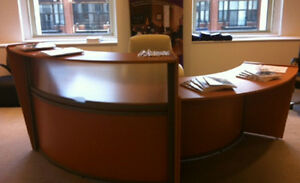 Reception Desk With Wheel Chair Accessible Ada Lower Side Counter 4 Colors