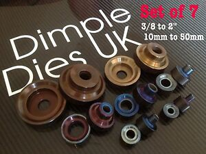 7 Dimple Die Set 3 8 1 2 5 8 3 4 1 1 1 2 2 Hole Swager Flare Autograss