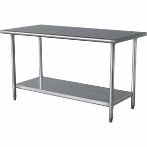 Work Table Food Prep Worktable Restaurant Supply Stainless Steel 30 X 60