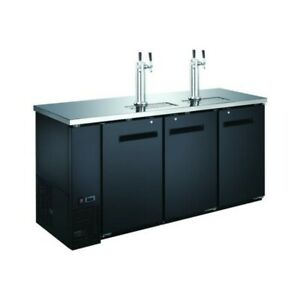 72 3 door Beer Dispenser Kegerator