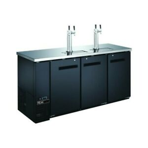 72 3 door 4 Tap Beer Dispenser Kegerator Keg Cooler