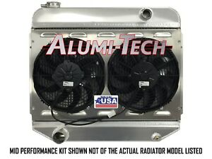 Cr3210mpk Alumi tech 1962 1965 Chevy Nova Ii Direct Fit Radiator W Spal Fans