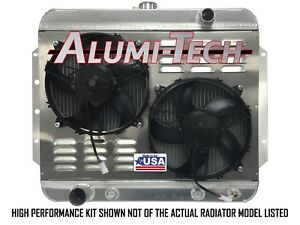 Cr3216hpk Alumi Tech 1955 1957 Chevy Bel Air Direct Fit Radiator W Spal Hp Fans