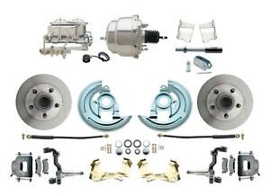 62 67 Chevy Ii Nova Disc Brake Conversion Kit Chrome Booster Master Cylinder