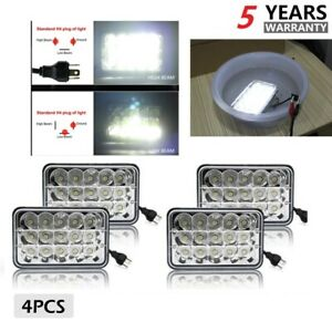 4pcs 4x6 Led Headlights Hi lo Sealed Beam Fog Lamp For Gmc W3500 W4500 W5500