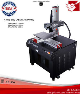 20w 4 axis Cnc Laser Deep Engraving Ipg Photonics