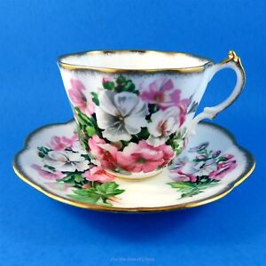 Pretty Pink White Floral Salisbury Tea Cup And Saucer Set