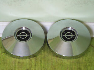 67 68 69 70 71 72 Buick Opel Dog Dish Hub Caps 9 1 2 Set Of 2 Poverty Hubcaps