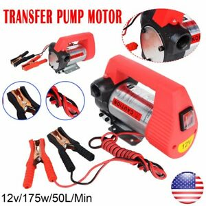 12v 10 Gpm Electric Portable Diesel Oil And Fuel Transfer Extractor Pump Motor