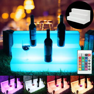 40 3 Step Led Lighted Glowing Liquor Bottle Display Shelf Rack Bar 20 Color Us