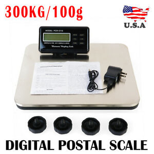 660lbs Lcd Postal Platform Digital Scale Shipping Pet Floor Bench 300kg Weigh