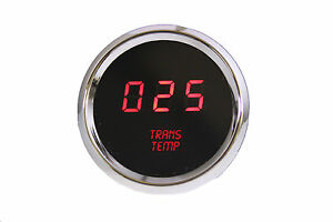Led Digital Transmission Temperature Gauge Red Leds W Chrome Bezel