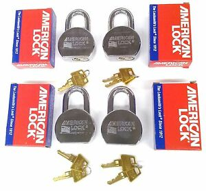 4 New American Lock A700 High Security Solid Steel Padlocks All Keyed Alike