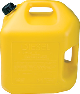 5 Gallon Yellow Diesel Can pack Of 2 Midwest P 8600