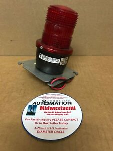 Federal Signal Streamline Lp3m Red Signaling Warning Beacon Light Freshipsameday