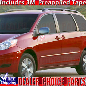 For 2004 05 06 07 08 09 2010 Toyota Sienna Triple Chrome Mirror Covers Trims